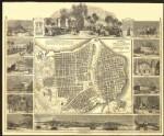 Plano Pintoresco de La Habana con los números de las casas de 1849